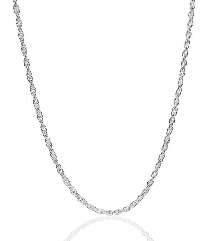 Cadena Cordón en Plata de Primera Ley 40x60 cm