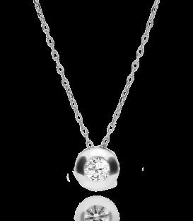 Colgante Circular con Piedra en Oro