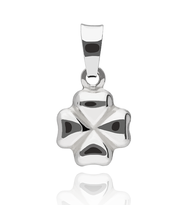 Colgante plata de ley Trébol