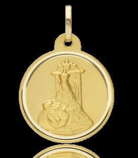 Medalla Virgen de las Angustias oro 18k