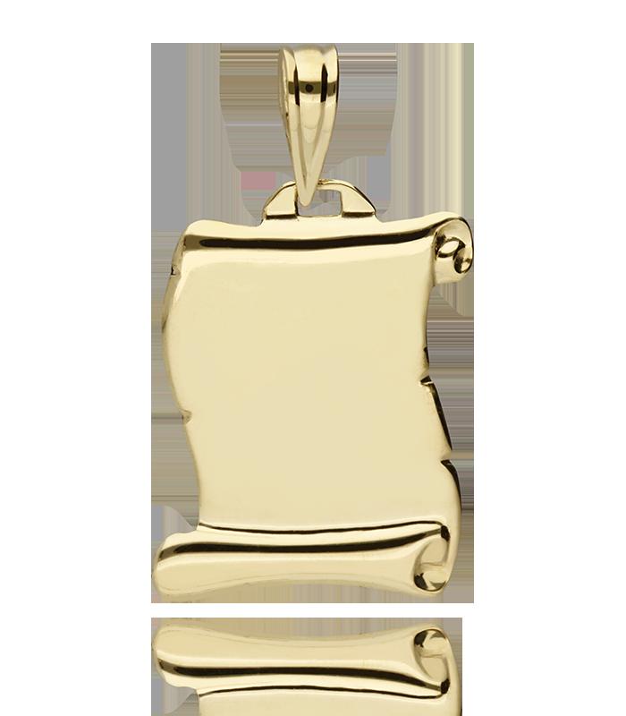 Colgante Oro 18k Pergamino