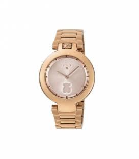 Reloj Crown de acero IP rosado 700350280