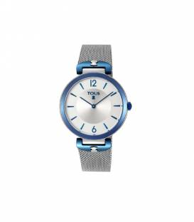 Reloj S-Mesh bicolor acero/IP azul 800350830