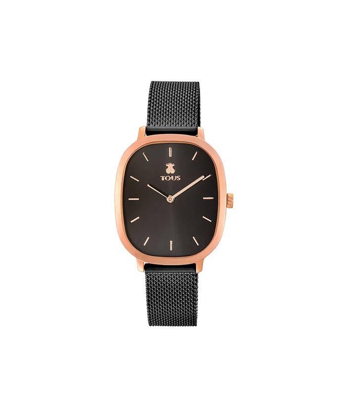 Reloj Heritage de acero IP rosado/IP negro 900350405