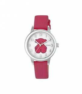 Reloj New Muffin de acero con correa de piel fucsia 000351570