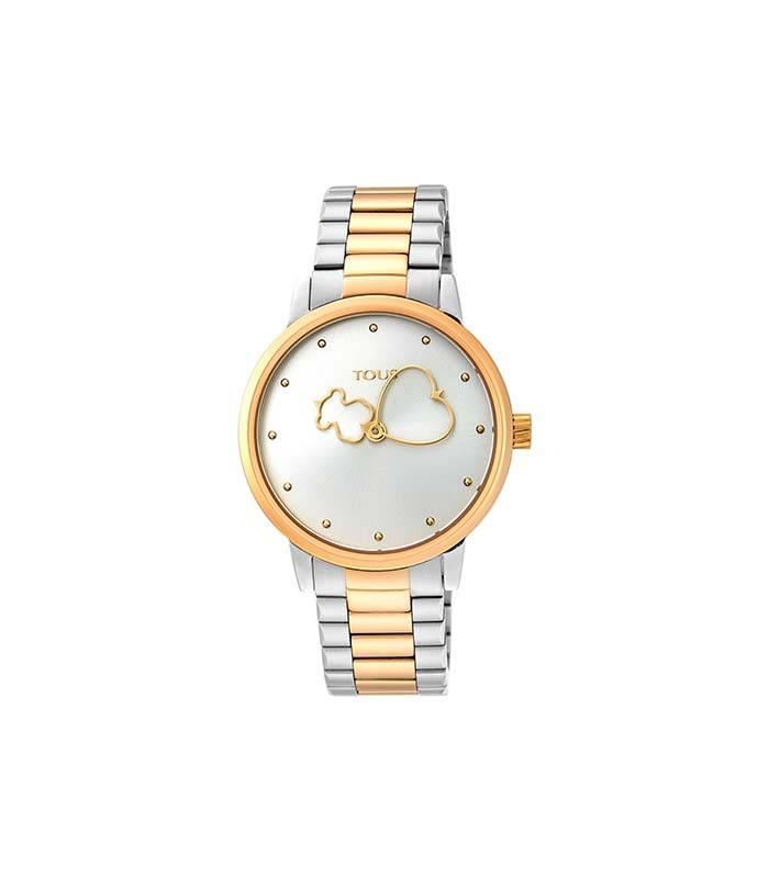 Reloj Bear Time de acero IP amarillo con correa de acero 900350310