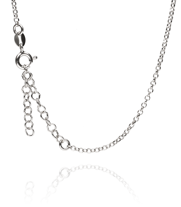 Gargantilla de Plata con silueta Femenina y Corazón