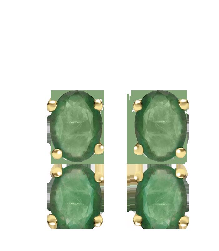 """Conjunto """"Nikko"""" Oro 18k y Esmeraldas naturales"""
