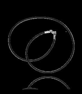 Cordón de Caucho con cierre de Plata