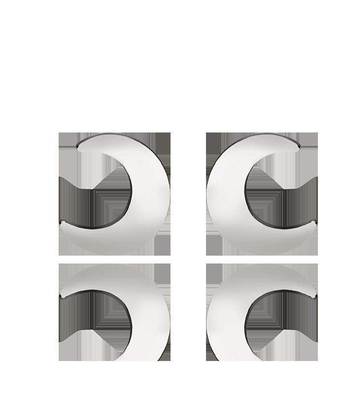 """Pendientes Plata """"Moon"""""""
