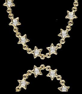 """Gargantilla Plata """"Ten Stars"""""""