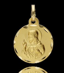 Medalla Escapulario Corazón de Jesús y Virgen de las Angustias