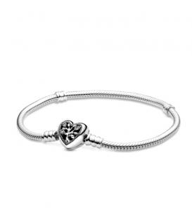 Pulsera Diseño Cola de Ratón con Cierre de Corazón Árbol Genealógico Moments de Pandora 98827C01-17
