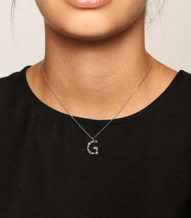 Collar Letra G Silver CO02-102-U