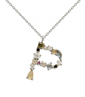 Collar Letra P Silver CO02-111-U