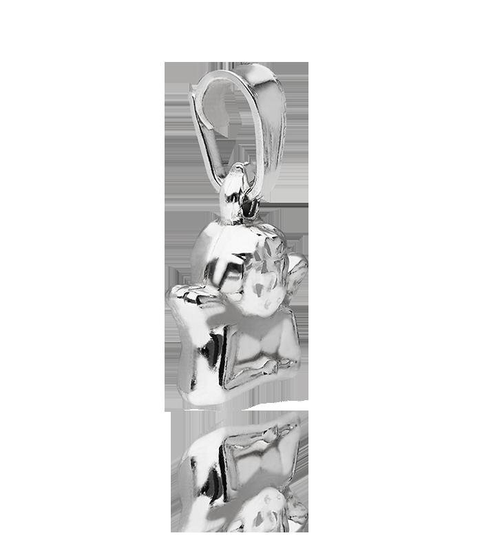 Colgante Angelito en Plata de Primera Ley 10mm