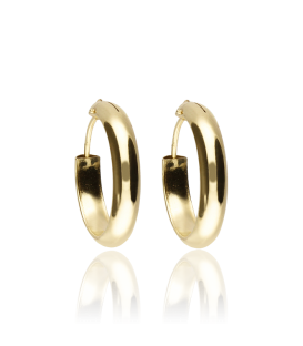 Pendientes Oro Aro 1/2 Caña 14x3 mm