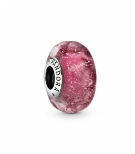 Charm de Cristal de Murano Rosa Fantasía Ondulado 798872C00