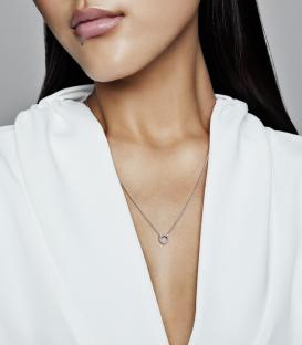 Collar Hexágono de Panal Brillante 398787C01