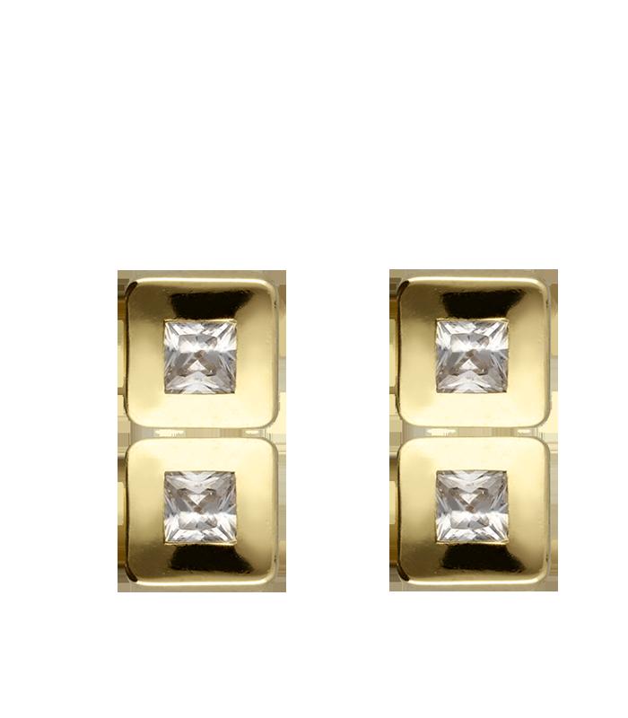 Pendiente Oro Circonita Blanca