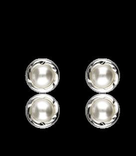 """Pendientes Plata """"Silver Pearl"""""""