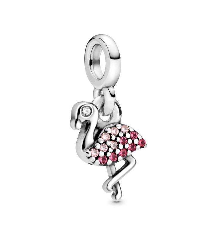 Charm Pandora colgante en plata de ley Mi Flamenco rosa 798982C01