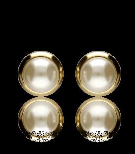 Pendientes 18k con perla Majorica