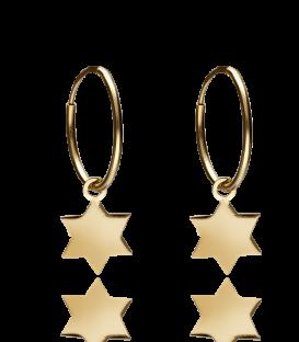 "Pendientes Aro Oro ""Guiding Star"""
