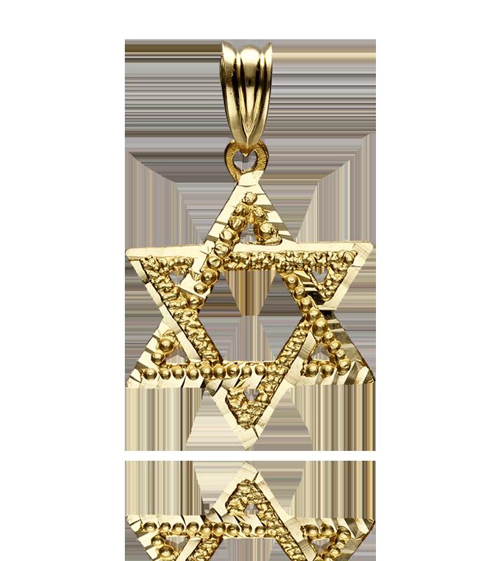 Colgante oro estrella de David mediana