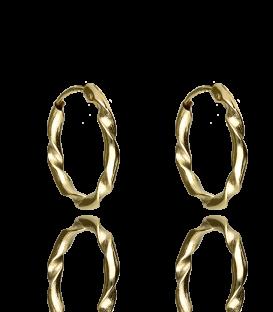 Pendientes de Oro Aro rizado 16x2 mm