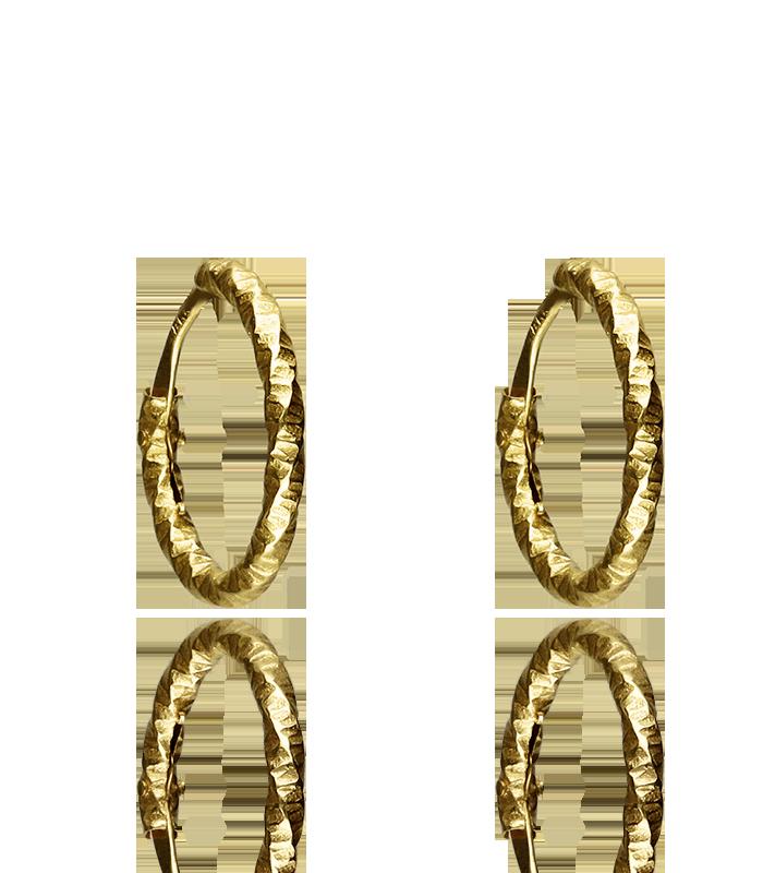 Pendientes Oro Aro Galloneado 1.30x11 mm