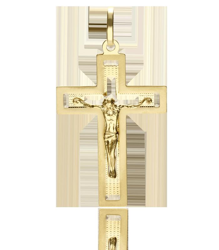 Cruz calada Oro 18k