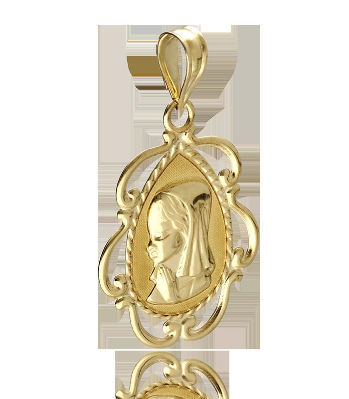 Medalla Virgen Niña de Oro 18k