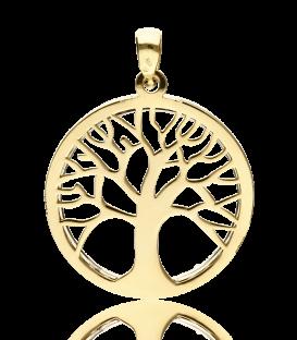 Colgante Árbol de la Vida Oro 18k Bicolor y Circonitas