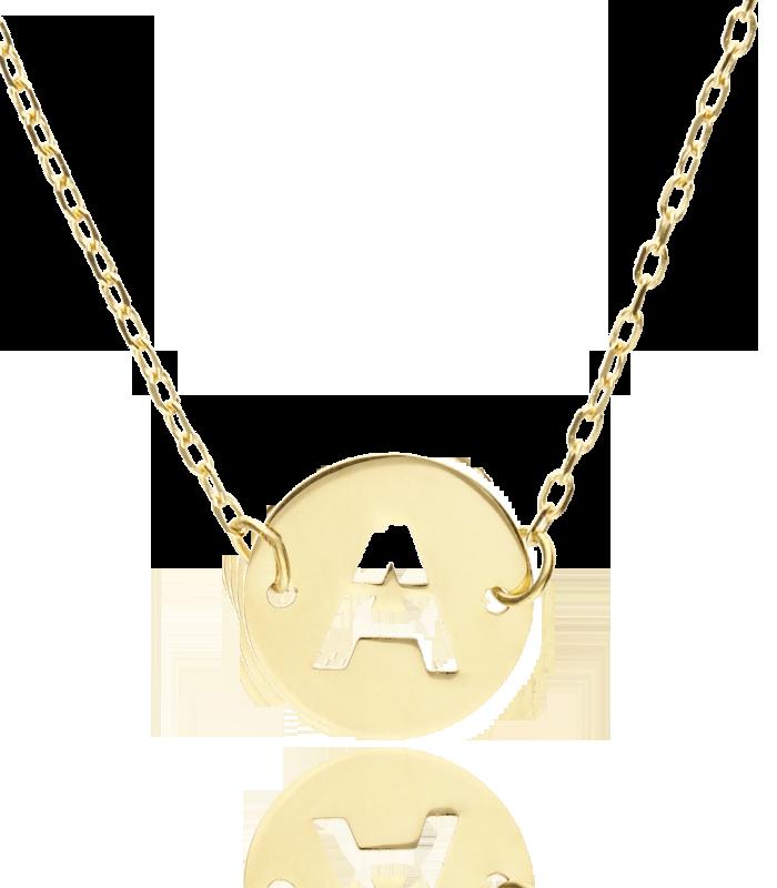 """Gargantilla """"Abc"""" Oro 18K Inicial A"""
