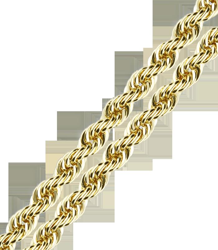 Cordón Salomónico Oro 18k 2.8mm 60 cm