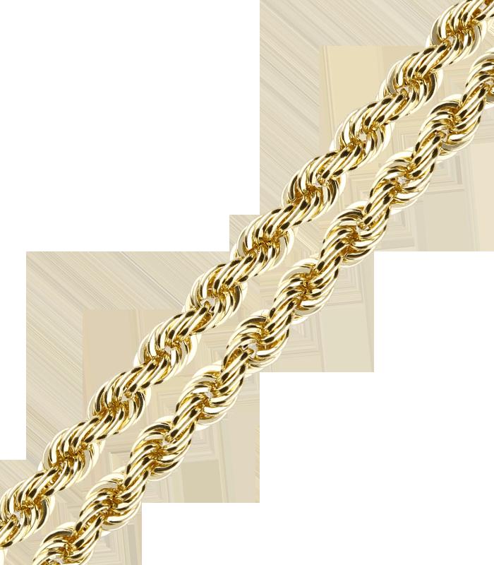 Cordón Salomónico Oro 18k 3.3mm 50cm