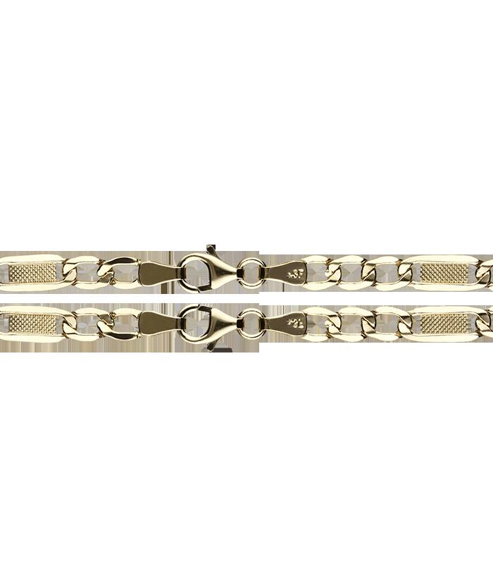 Cadena Oro Eslabón 3x1