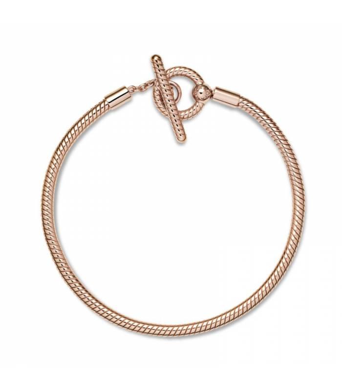 Pulsera Moments en Pandora Rose Cadena de Serpiente con cierre en T 589087C00