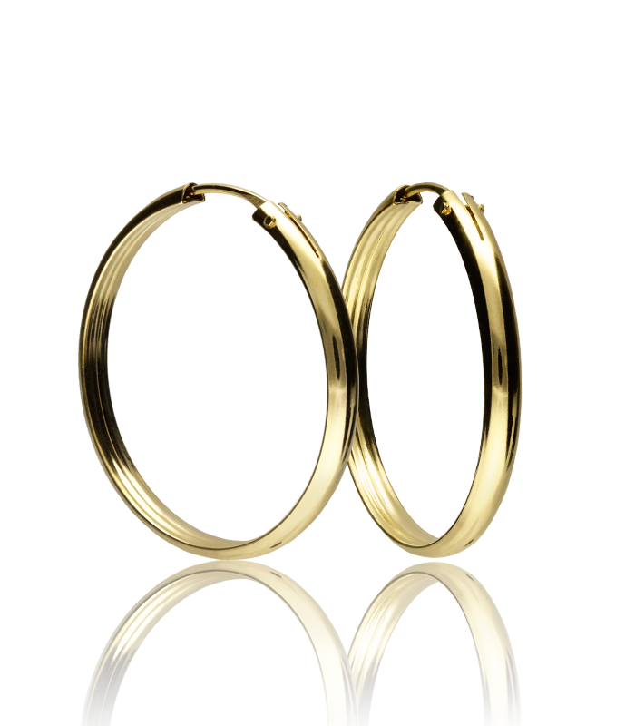 Aro Oro 18k Colección TYABA 22x2.5mm