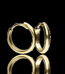 "Aros ""Deli"" de Oro Amarillo 18k 12x2 mm"