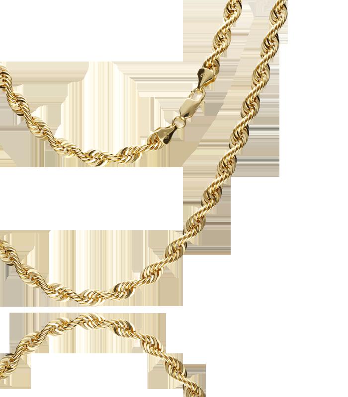 """Cordón Salomonico """"Kane"""" Oro Amarillo 60 cm"""