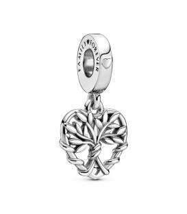 Charm colgante en plata de ley Corazón Árbol de la Vida 799149C00