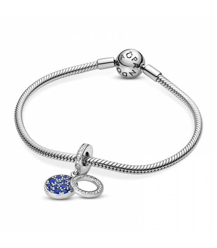 Charm colgante en plata de ley Disco Azul 799186C01