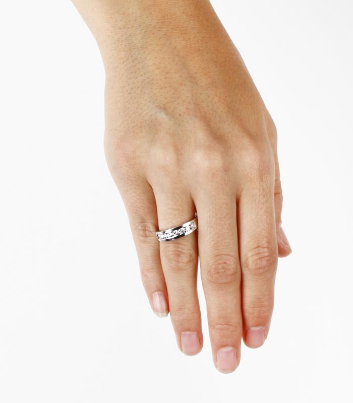 Anillo Oro Blanco y Diamantes 0.60cts