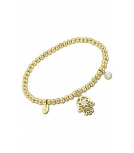 Pulsera Lotus Style dorada mano de fátima con circonita LS2172-2/3