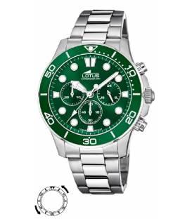 Reloj Lotus Acero con Esfera Verde 18756-2
