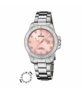 Reloj Festina Mujer Plateado con eslabones esfera rosa F205032/2