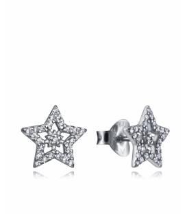 Pendientes de plata estrellas con circonitas 7117e000-38