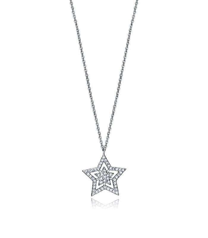 Collar de plata estrella con circonitas 7117c000-38